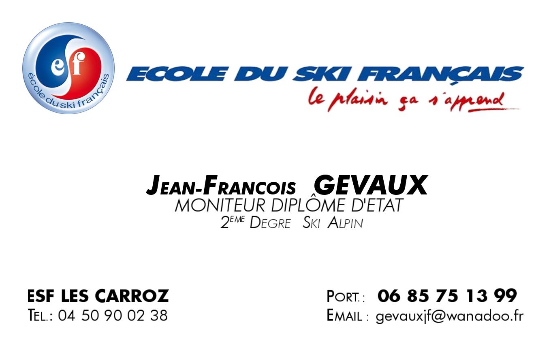 Jean-François Gevaux Moniteur de ski