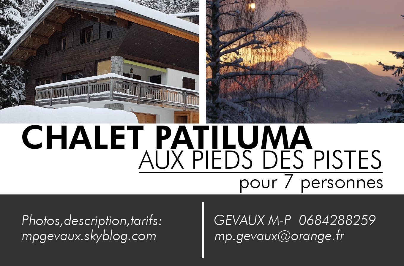 Location de chalet Patiluma